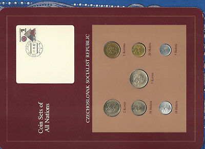 Coin Sets of All Nations Czechoslovakia 1965-1982 UNC 5 Korun 1982 1 Korun 1965