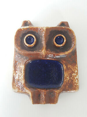 Ashtray Ceramic Shaped Owl Of Buchtal Vallauris 1970 Space Age 70S