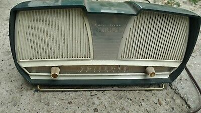 VINTAGE PHILIPS twin- tone radio estate find
