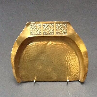 Art Nouveau Brass Crumb Scoop Crumb Tray Hammered Finish Vintage old antique