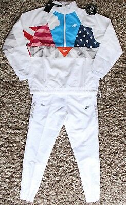 4b2318d32c63 NIKE X PARRA Tracksuit Half Zip Jacket White Size Small Medium S M ...