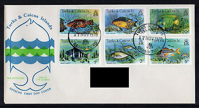 Turks & Caicos Islands - 1978, New Definitive Issue (Fish) FDC
