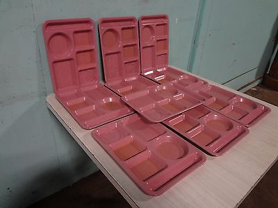 """Lot Of 10 """" Texas Ware """" Heavy Duty Commercial Melamine 5 Compartment Food Trays"""