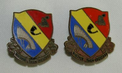Pair Theater Made 776th Tank Destroyer Bn. Distinctive Insignia