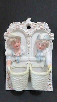 Vtg Chase Hand-Painted Occupied Japan Wall Mount Toothpick Holder Match Holder