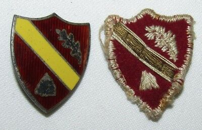 2pcs-U.S. Army 78th Regiment (CST) Distinctive Insignia-Scarce Theater Made