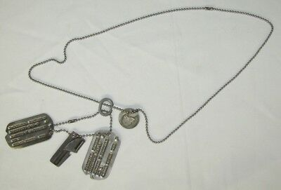 Pr WW2 NOK U.S. Soldier Dog Tags W/Lucky Nickel-Nathan McDonald T41-3