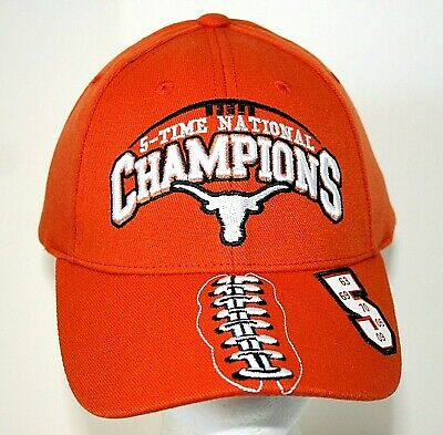 University Texas Longhorns Top of World National Champions New NOS Cap Hat 2000s