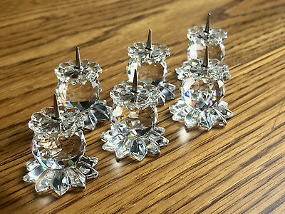 Swarovski Pin Candle Holders - Retired (1978-1981) Set of 6 - 7600 NR 131