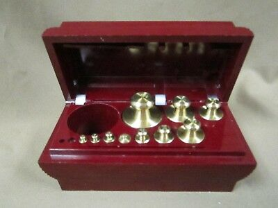 MID CENT. OHAUS Sto-A-METRIC CALIBRATION BALANCE SCALE WEIGHTS  IN BAKELITE BOX