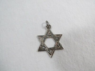 Marked 925 Sterling Star of David with Design Pendant