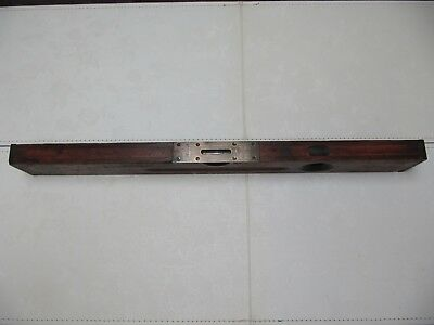 "Vintage Stanley No. 5 Adjustable 26"" Level-Wood With Brass Ends-Works Great!"