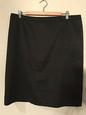 Anthea Crawford 16 Black Check Business Skirt