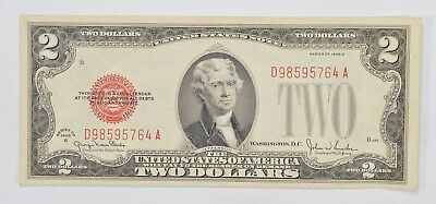 Crisp 1928 Red Seal $2.00 United States Note - Better Grade *341