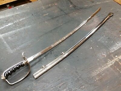 Vintage US Army Ceremonial 1902 Sword with Scabbard