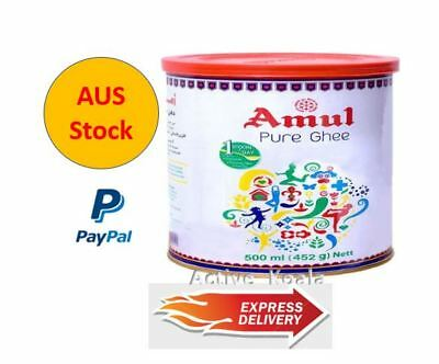 AMUL - Pure Ghee (Clarified Butter) - 500ML (452G) - cooking Ghee