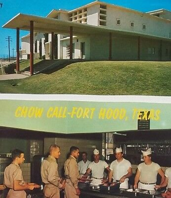 VTG Fort Hood Texas Chow Call Mess Hall Main Theatre Postcard Military Base Lot