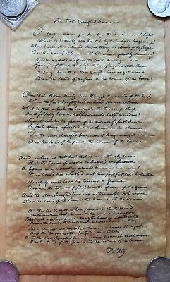 Replica Of The Star Spangled Banner Antiqued Parchment paper