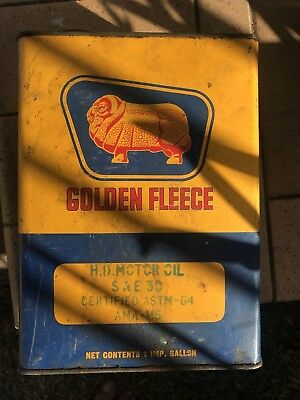 Golden Fleece Collectable Oil Tin - HD Motor Oil
