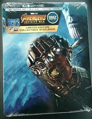 Steelbook Avengers Infinity War 4K Ultra HD & Blu Ray & Digital Code 2018 Movie