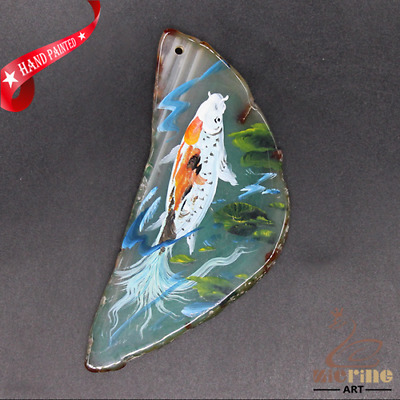 Hand Painted Fish Jewelry Necklace Pendant Necklace D1906 0826