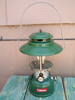 Vintage Coleman Gas Lantern Big Hat Model 228F Coleman Camping Gear Gas Lamp