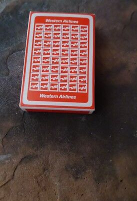 Vintage Western Airlines Playing Cards