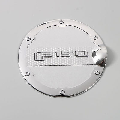 Chrome Fuel Tank Oil Cap Door For Ford F-150 F150 2015-2018 Gas Trim Brand New