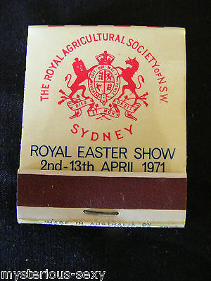 Royal Easter Show 1971 Agricultural Society Of Nsw Matchbook & Matches ~ Unused