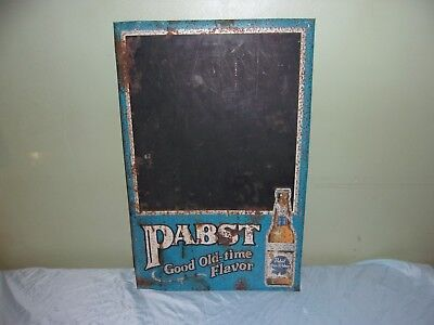 Vintage Original Pabst Blue Ribbon Sign / Chalkboard Advertising Sign