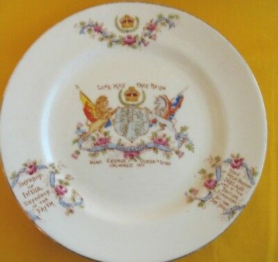 1911 CORONATION of KING GEORGE V & QUEEN MARY souvenir plate. made in England