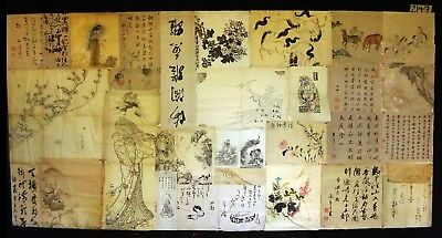 32x 19C/20C Japanese Mixed Lot Paintings, Drawings, Calligraphies (HMA) #2147