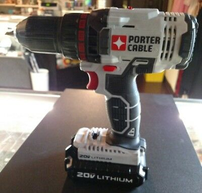 "Porter Cable 20v 1/2"" Drill/Driver PCC601 with Lithium Ion Battery SHIPS FAST"