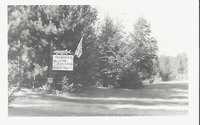 WINTER, WISCONSIN, Connors Lake, Ironsides Modern Cottages, Sign, RPPC, Postcard