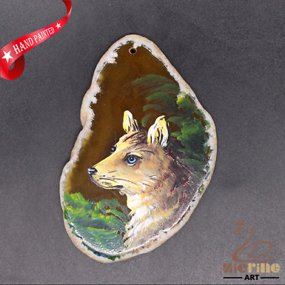 Hand Painted Dog Jewelry Necklace Pendant Necklace D1906 0910