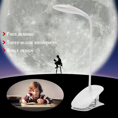 Clip-On Lamp USB Desk Bedside Reading Book Lamp Table LED Dimmable Night Lights