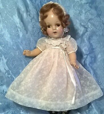 """VTG.1940's?""""ARRANBEE""""NANCY"""" DOLL.COMPOSITION,HUMAN HAIR,ORIGINAL OUTFIT.EXC.COND"""