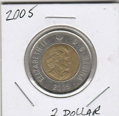 2005 Twoonie $2 Two Dollars Canada/Canadian Coin