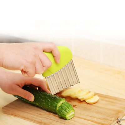 Stainless Steel French Fry Cutter Wavy Potato Chips Chipper Slicer Cutting Tool