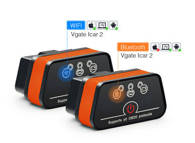 Vgate iCar2 ELM327 Bluetooth OBD2 Scanner iCar 2 wifi adapter for android/PC/IOS