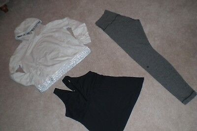 Lot of Lululemon Luon Wunder Under Pants, Rare Sweater and Tank  sz 10