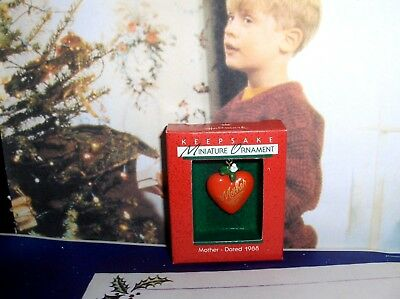 Mother Heart`1988`Miniature-Part Of Your Holiday Tradition,Hallmark Ornament-New