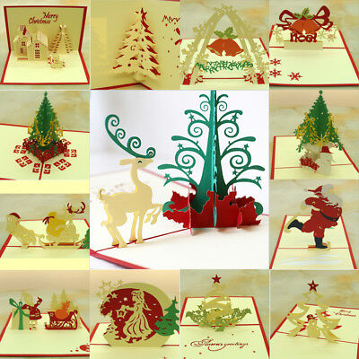 3d pop up christmas tree greeting card xmas greeting holiday cards 3d pop up card christmas tree greeting xmas gift holiday happy new year cards m4hsunfo