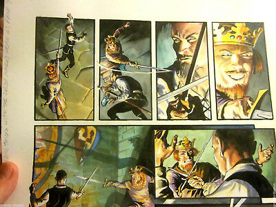 ORIGINAL COMIC ART Outlaw Prince Painted by Thomas YEATES Signed, Michael KALUTA