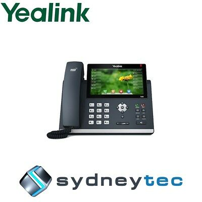 New Yealink SIP-T48S 16 Line IP Phone Dual Gigabit, 7'' Color Touch Screen, Blue