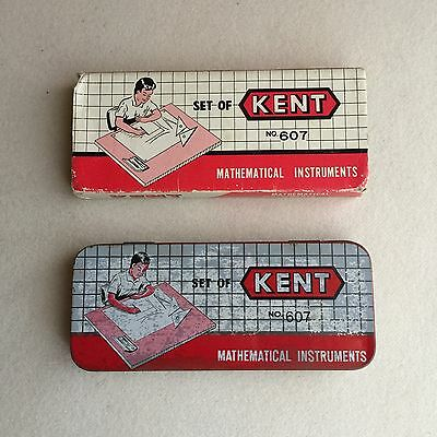 Vintage SET of KENT No. 607 MATHEMATICAL Instruments GEOMETRY Set