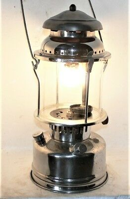 Aladdin 1A kerosene storm lamp, clean and working great, new seals, no dents.