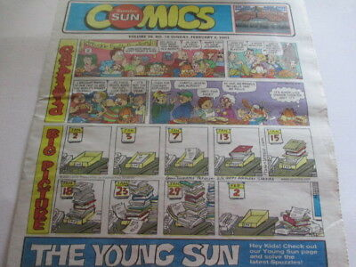 Sunday Sun Comics February 2003 w/ Honest Ed's Advertising on the Back