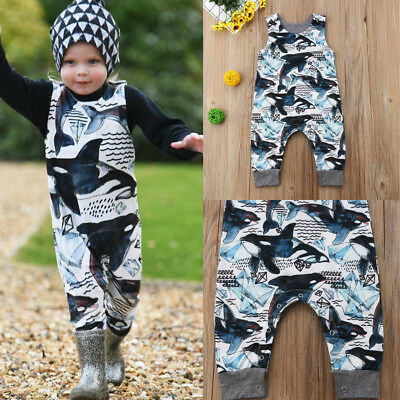 AUSeller Cute Kids Baby Boys Dolphins One Piece Jumpsuit Romper Outfit Clothes A