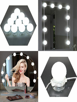 Hollywood Style LED Makeup Mirror Lamp Dimmable 10 Bulbs Dressing Room Lighting